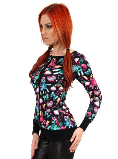 Women's Unicorns Cardigan by Liquorbrand
