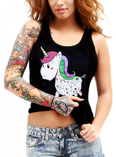 Women's Unicorn Racerback Tank by Cartel Ink