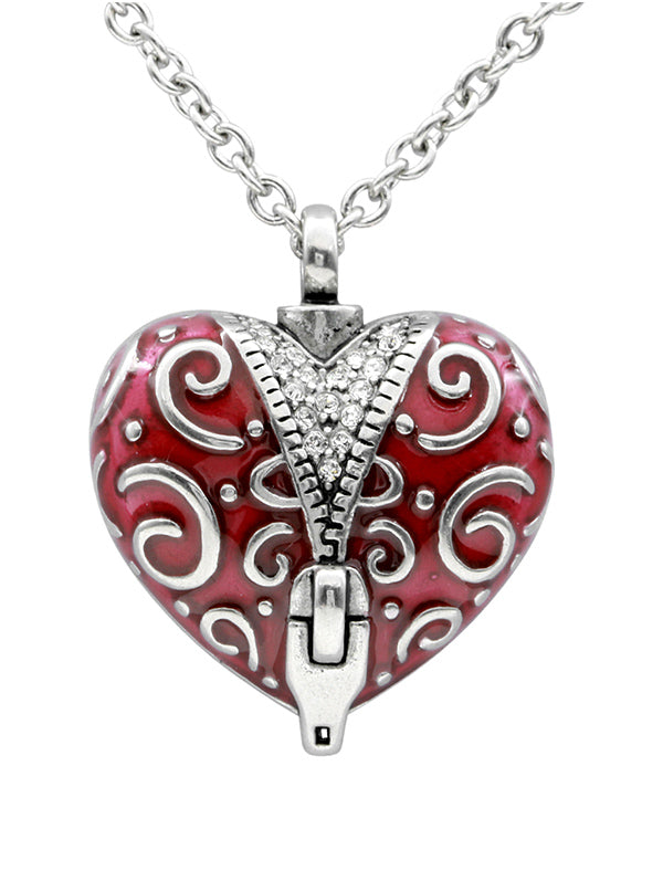 Unzip the Veil Heart Necklace by Controse