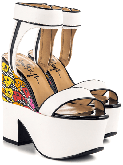 """Upstream"" Heels by Taylorsays (White) - www.inkedshop.com"