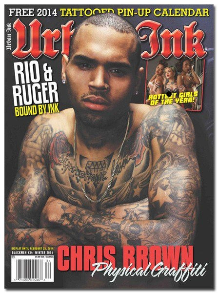 Urban Ink: February 2014 - Chris Brown - www.inkedshop.com