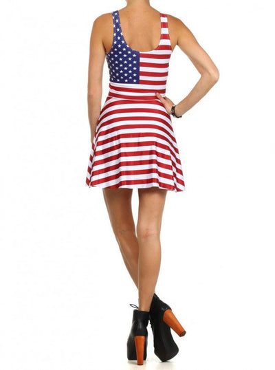 "Women's ""USA"" Skater Dress by Poprageous (USA) - www.inkedshop.com"