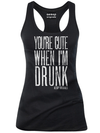 "Women's ""You're Cute When I'm Drunk"" Tank by Aesop Originals (Black) - www.inkedshop.com"