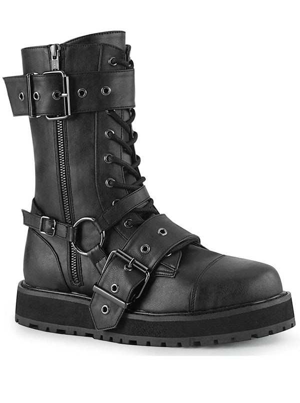 "Unisex ""Valor 220"" Combat Boot by Demonia (Black)"