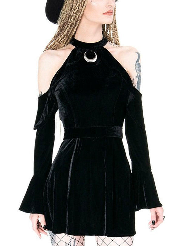 Women's Velvet Moon Mini Dress by Restyle
