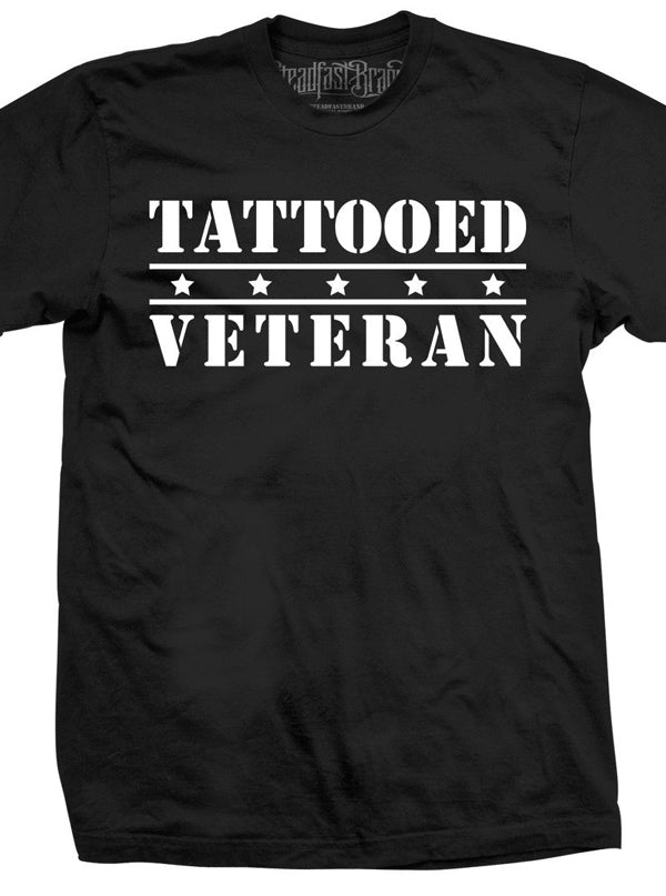 "Men's ""Tattooed Veteran"" Tee by Steadfast Brand (Black)"