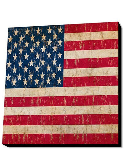 Vintage Flag Wall Art by Lamp in A Box (More Options) - www.inkedshop.com