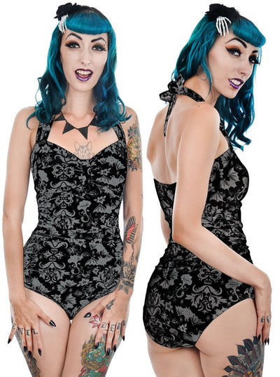 Women's Victorian Bats One Piece Swimsuit by Too Fast