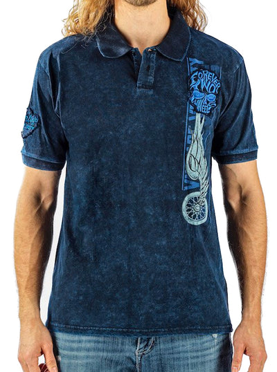 Men's Wing Tire Polo Shirt by Lethal Threat