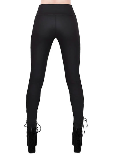 Women's Viper Lace Up Leggings by Killstar