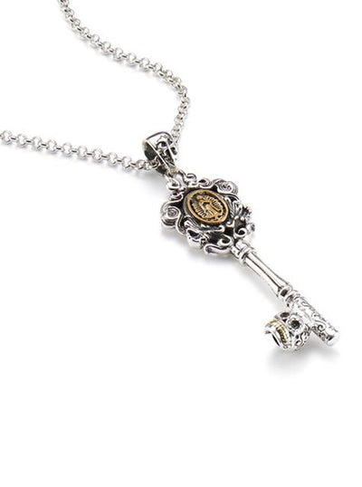 Virgin Mary Key Necklace by Silver Phantom Jewelry