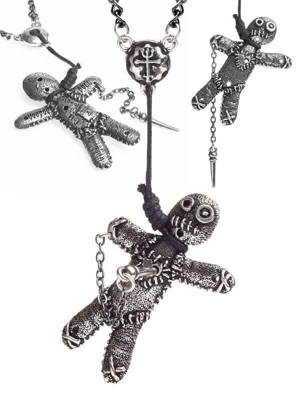 """Voodoo Doll"" Pendant by Alchemy of England (Pewter)"