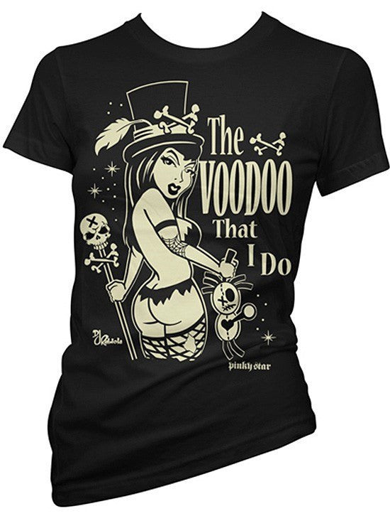 "Women's ""The Voodoo That I Do"" Tee by Pinky Star (Black) - www.inkedshop.com"
