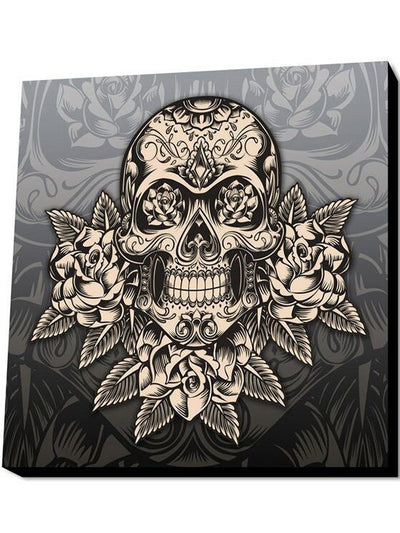 Gold Skull Wall Art by Lamp in A Box (More Options) - www.inkedshop.com