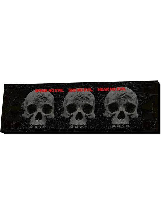 3 Skull Wall Art by Lamp in A Box - www.inkedshop.com