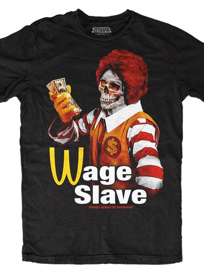 Men's Wage Slave Tee by Skygraphx