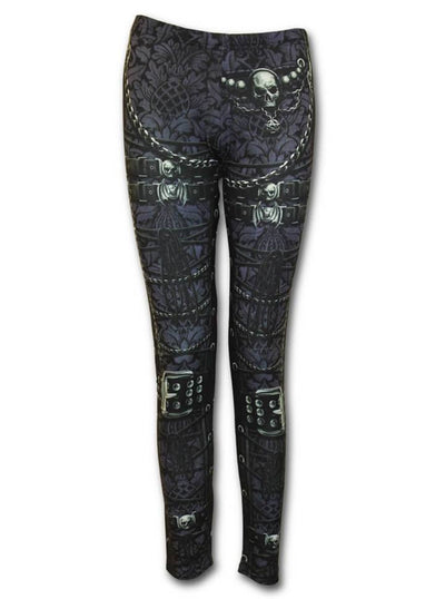 "Women's ""Waisted Corset"" Allover Leggings by Spiral USA (Black) - www.inkedshop.com"