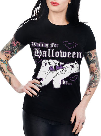 Women's Waiting For Halloween Like... Babydoll Tee by Too Fast