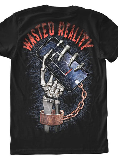 Men's Wasted Reality Tee by Skygraphx