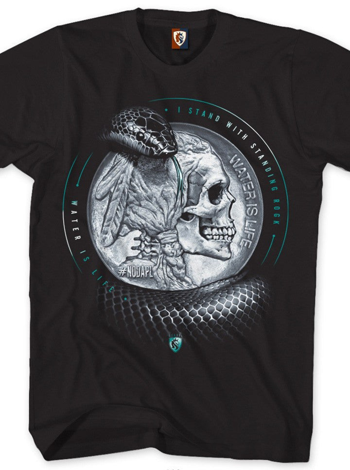 "Men's ""Water Is Life"" Tee by OG Abel (Black) - www.inkedshop.com"