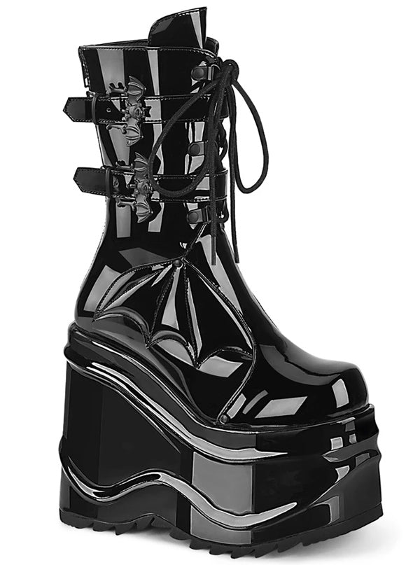 Women's Wave 150 Mid-Calf Boots by Demonia