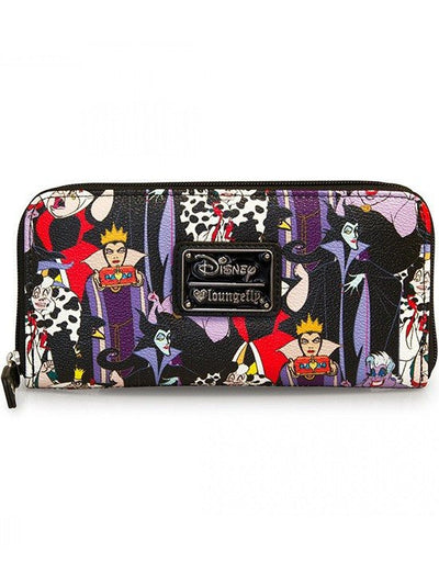 """Disney Villains"" Pebble Wallet by Loungefly (Black) - www.inkedshop.com"