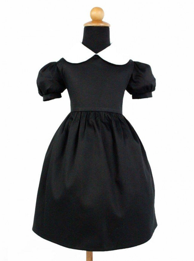 "Girl's ""Wednesday Addams"" Inspired Dress by Hemet (Black) - www.inkedshop.com"