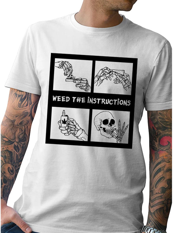 Men's Weed The instructions Tee by Tat Daddy x Cheefin