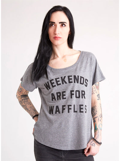 Women's Weekends Are For Waffles Dolman Tee by Pyknic