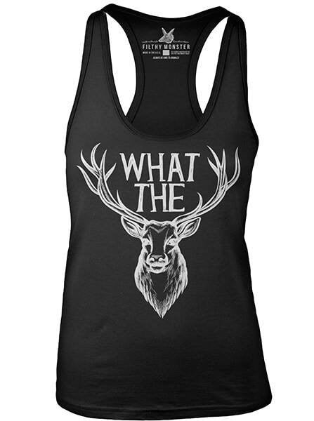 "Women's ""What the Buck"" Tank by Filthy Monster Clothing (Black) - www.inkedshop.com"