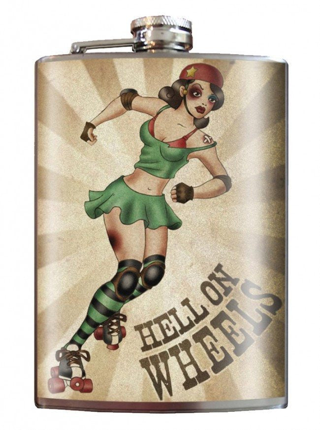 """Hell on Wheels"" Flask by Trixie & Milo - InkedShop - 1"