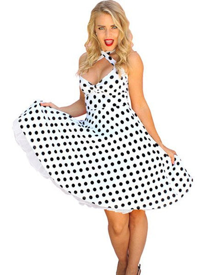 "Women's ""Holly Halter"" Pinup Dress by Demi Loon (More Options)"