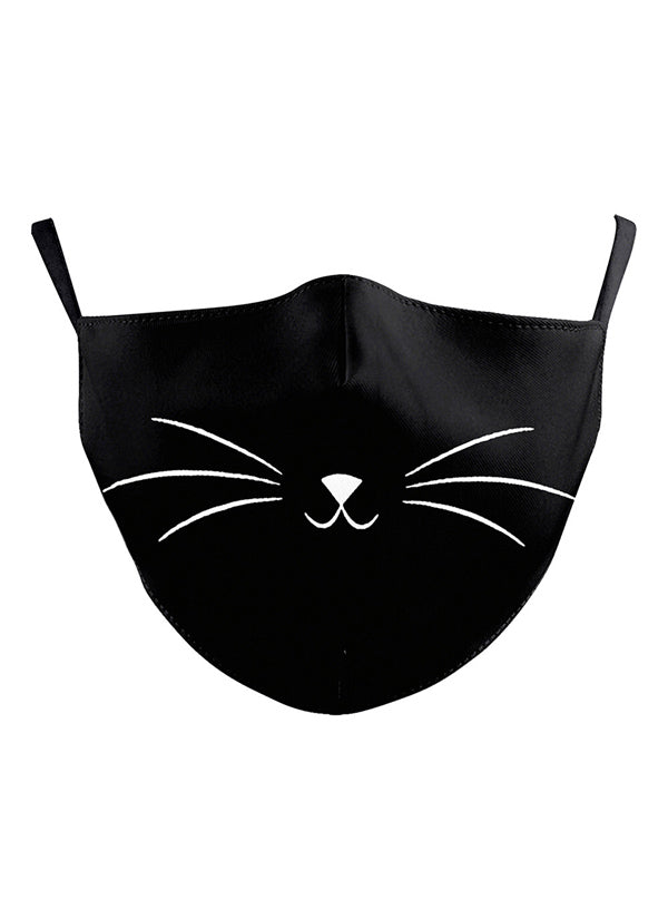 Whiskers Print Face Mask