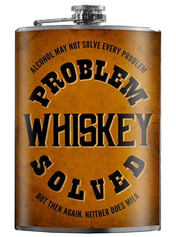 Problem, Whiskey, Solved Flask by Trixie & Milo