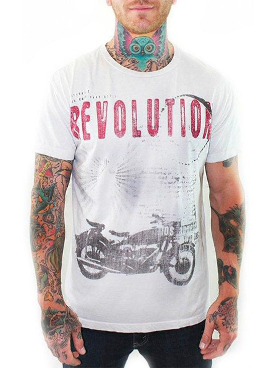 "Men's ""Live Fast"" Tee by 7th Revolution (Vintage White) - InkedShop - 1"