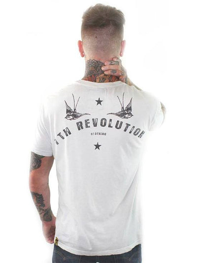 "Men's ""Live Fast"" Tee by 7th Revolution (Vintage White) - InkedShop - 3"