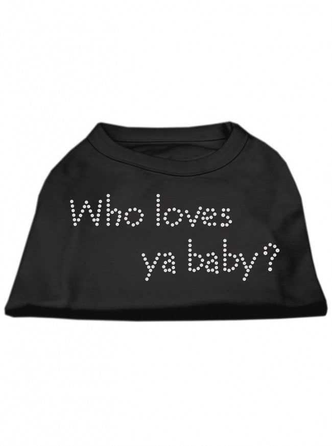 """Who Loves Ya Baby?"" Dog Shirt by Mirage (Black) - www.inkedshop.com"