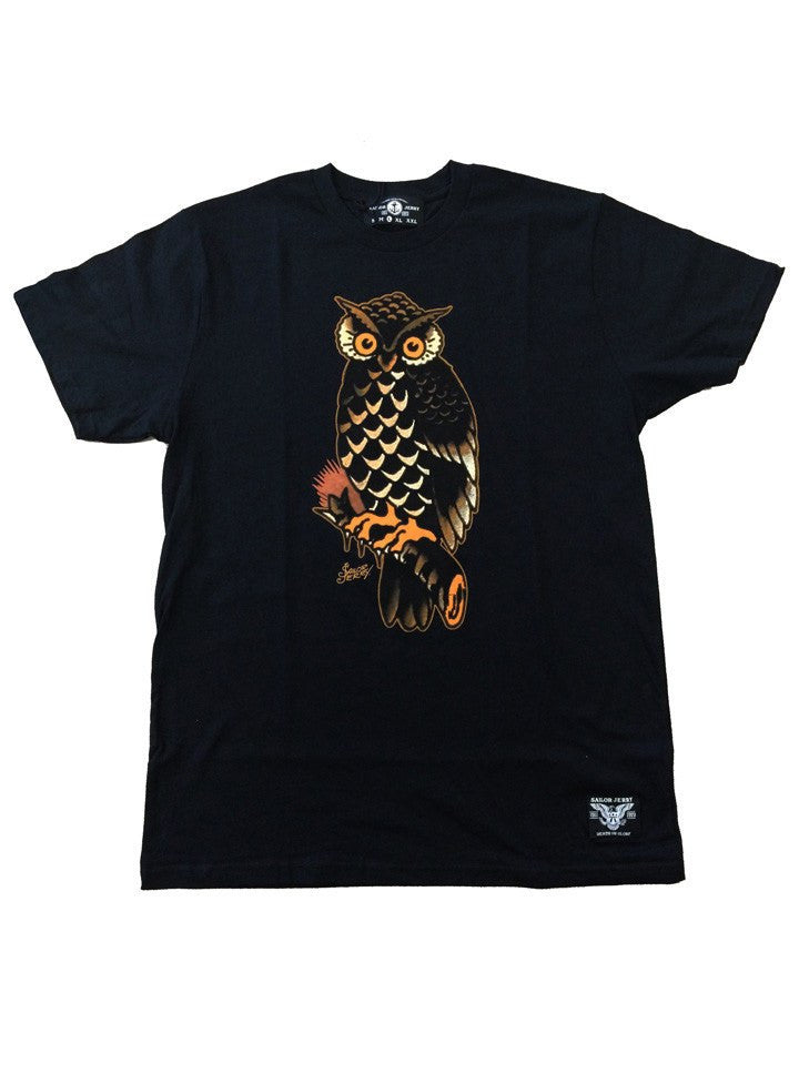 "Men's ""Who"" Tee by Sailor Jerry (Black) - www.inkedshop.com"