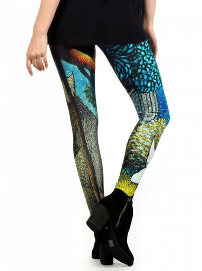"Women's ""Wild Things"" Leggings by Poprageous (Blue) - www.inkedshop.com"