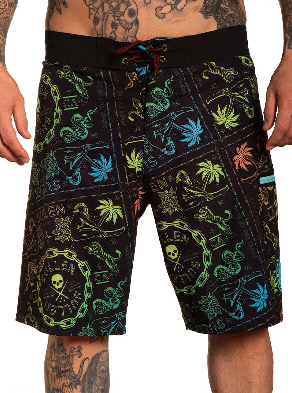 Men's Wild Side Boardshort by Sullen