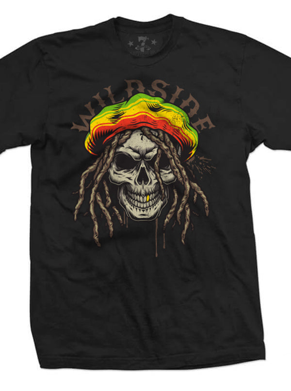 Men's Rasta Skull Tee by 7th Revolution