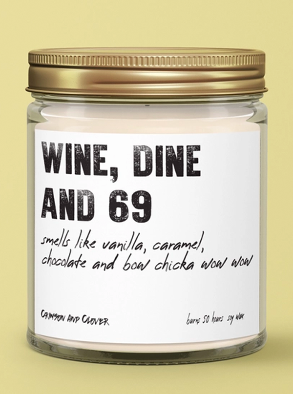 Wine Dine 69 Candle