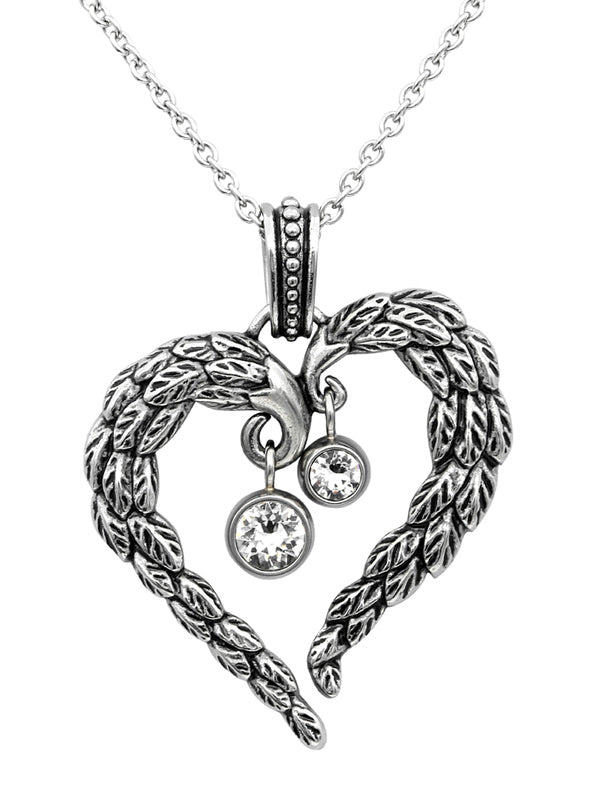 Heart Angel Wings Necklace by Controse