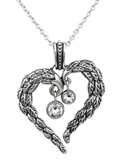 Heart Angel Wings Necklace by Controse (Stainless Steel)
