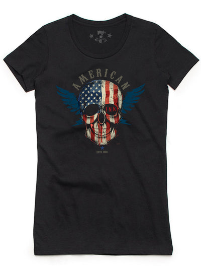 "Women's ""American Ink"" Tee by 7th Revolution (Black)"