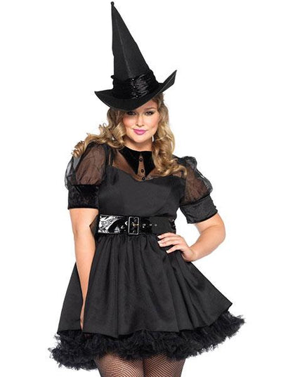 Women's Bewitching Witch Plus Size Costume by Leg Avenue