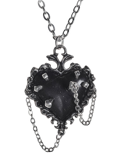 Witches Heart Pendant by Alchemy of England (Pewter)