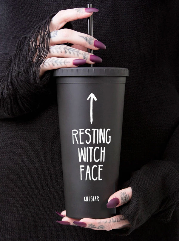 Resting Witch Face Cold Brew Cup by Killstar