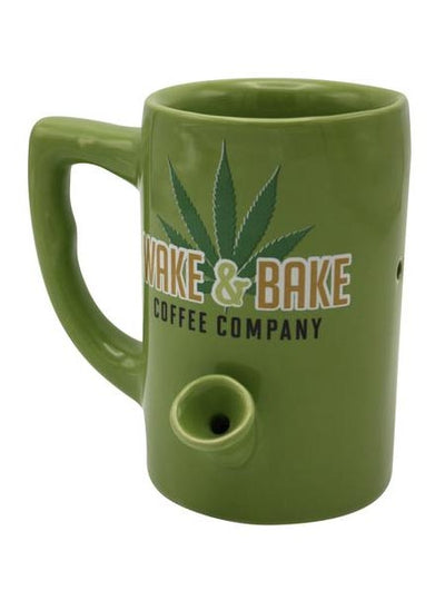 """Wake & Bake"" Mug (Green)"