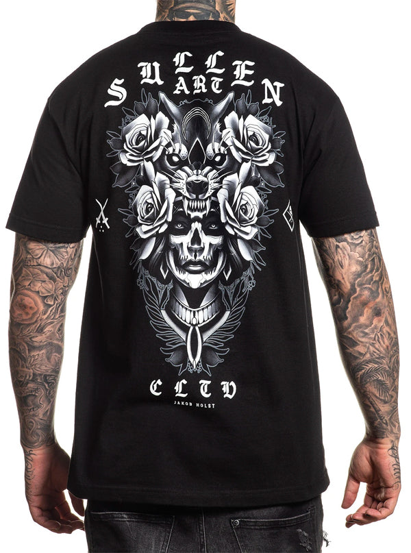 Men's Blaq Wolf Tee by Sullen